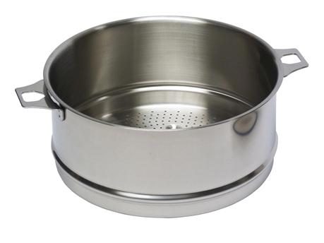 Passoire inox 24 cm pour cuit vapeur tom press - Cuit vapeur inox pour gaz ...