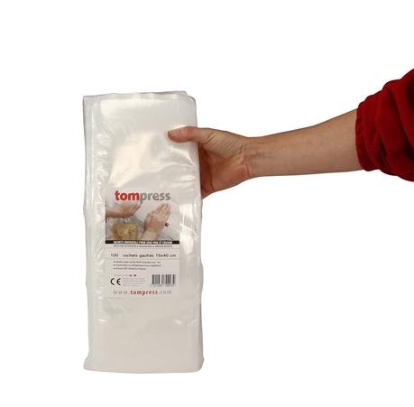 sacs sous vide gaufr s alimentaires 15x40 cm tom press par 100 tom press. Black Bedroom Furniture Sets. Home Design Ideas