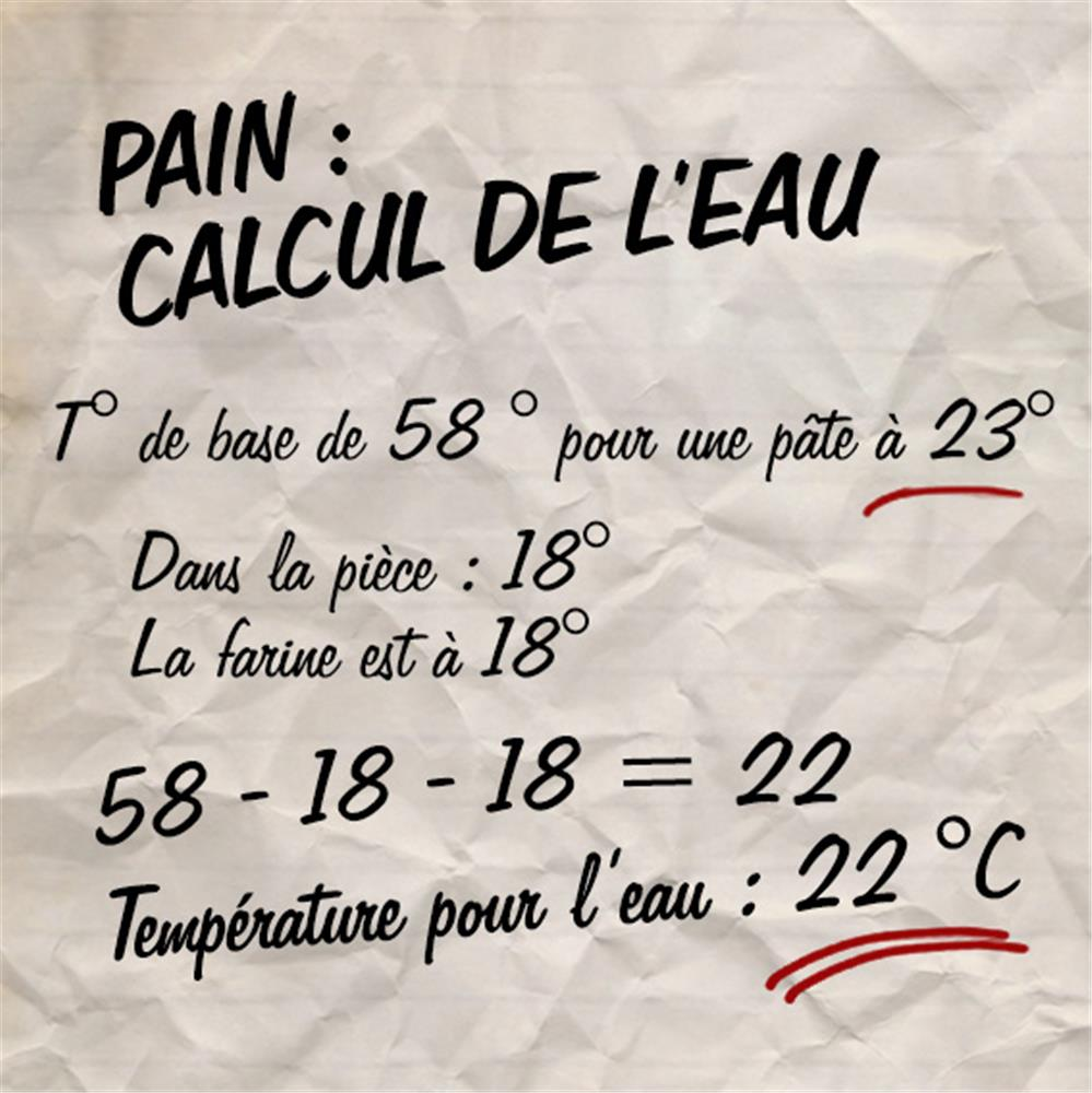 calculer-la-temperature-de-l-eau-de-coulage-du-pain