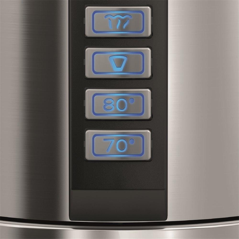 Bouilloire double paroi inox avec thermostat - Tom Press