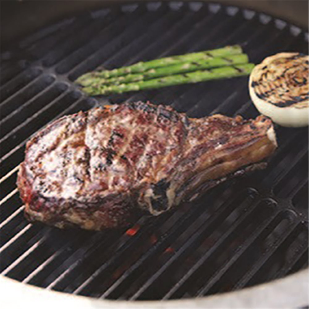 Recette de la c te de b uf au big green egg tom press - Cuisson de la cote de boeuf ...