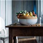 Coupe à fruits et oignons bol de conservation plateau liège blanc Craie Emile Henry