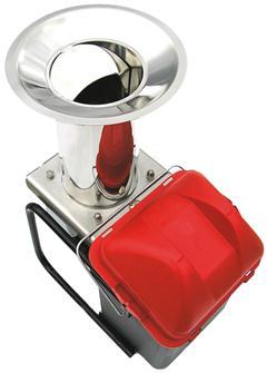 Broyeur à pomme électrique en inox avec seau 300 kg/h.