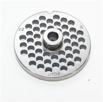 Grille inox 8 mm pour hachoir n°22