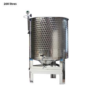 Cuve inox garde vin 200 l. complète