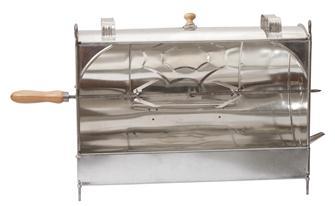 Rôtissoire de cheminée manuelle en fer blanc 60 cm