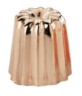 Moule à cannelé moyen en cuivre étamé