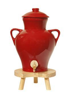 Vinaigrier en grès rouge 2,5 litres