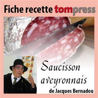 Recette du saucisson de campagne aveyronnais de Jacques Bernadou