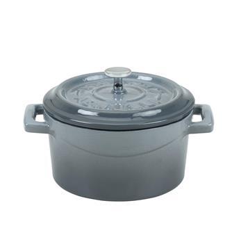 Mini cocotte 10 cm grise en fonte
