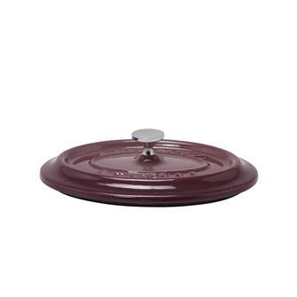 Couvercle ovale aubergine en fonte