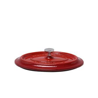 Couvercle ovale rouge en fonte