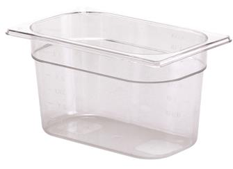 Bac gastro sans BPA GN 1/4 h. 15 cm en copolyester
