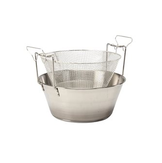 Friteuse 30 cm inox compatible induction