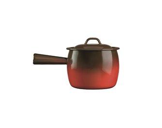 Pot à queue émaillé flamme 16 cm