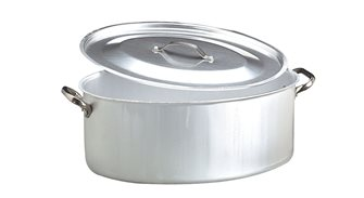 Cocotte ovale 40x28 avec couvercle
