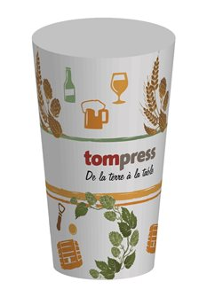Gobelet réutilisable Tom Press motif bière