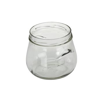 Pots verre bombé avec anses de 850 ml