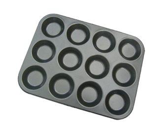 Plaque moule pour 12 tartelettes 7 cm en acier antiadhésif