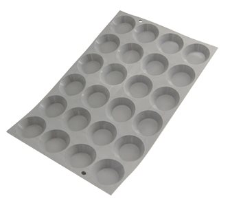 Moule silicone pour 24 mini tartelettes rondes