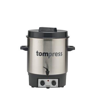 Stérilisateur électrique inox avec robinet et minuterie Tom Press pince à bocaux OFFERTE