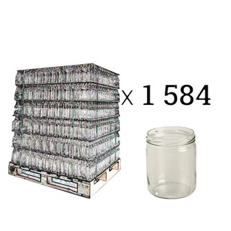Conserve verre pour gésiers, crème... 446 ml par palette de 1584