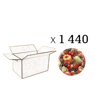 Capsules Twist-off confiture tutti frutti francia Diam 63 par 1440