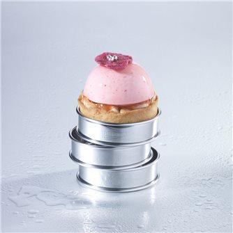 Tartelette dôme douceur rose et litchi