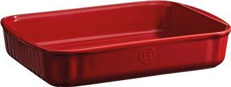 Plat à pâtisserie rectangulaire céramique rouge Grand Cru Emile Henry