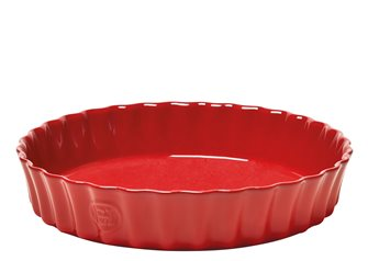Tourtière 28 cm haute céramique rouge Grand Cru Emile Henry