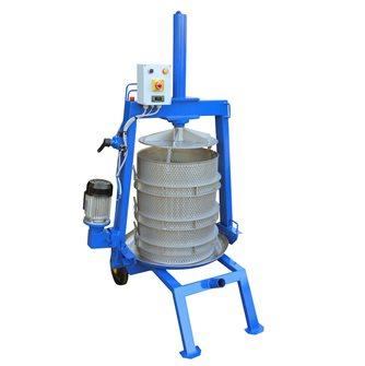 Pressoir hydraulique électrique inox 128 litres 50 cm