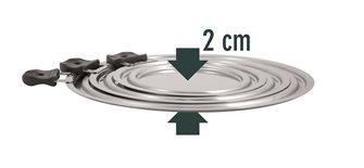 Lot 3 couvercles gain de place inox pour 9 diamètres de 14 à 30 cm