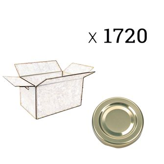 Capsules de diamètre 58 mm par carton de 1720