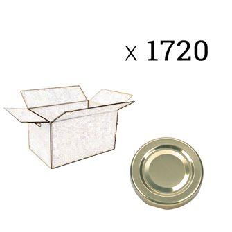 Capsules twist off dorées de 58 mm de diamètre par carton de 1720