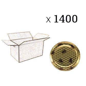 Capsules Twist-off miel abeille Diam 63 par 1400