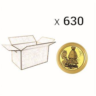 Capsules Twist-off miel ruche paille Diam 82 par 770
