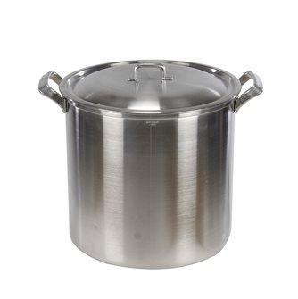 Marmite aluminium à bord carré et poignées aluminium diamètre 40 cm
