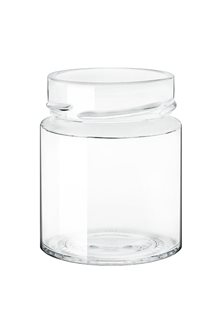 Bocal verre 156 ml diam 60 mm à capsule avec jupe haute par 24