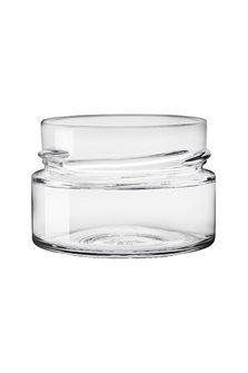 Bocal verre 119 ml diam 69 mm à capsule avec jupe haute par 24