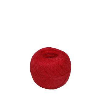 Pelote 200 g de ficelle pour charcuterie lin rustique rouge