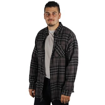Chemise Bartavel homme Andes grise manches longues L