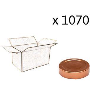 Capsule pour Bocal Jupe Haute diam 58 mm couleur cuivre par 1070
