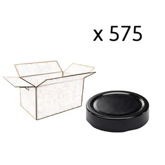 Capsule pour Bocal Jupe Haute diam 70 mm couleur noir par 575