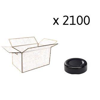 Capsule pour Bocal Jupe Haute diam 43 mm couleur noire par 2100