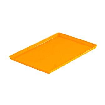 Plateau en silicone orange pour cuir de fruits au déshydrateur