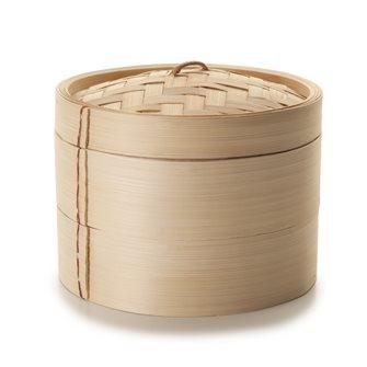 Cuiseur vapeur traditionnel en bambou de 20 cm de diamètre