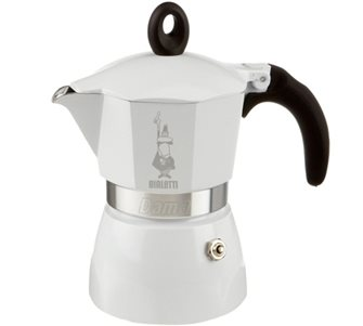 Cafetière italienne 3 tasses Dama Glamour blanche Bialetti