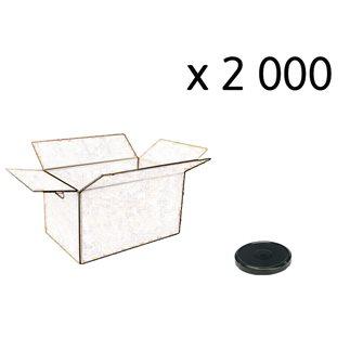 Capsules twist-off noires de 53 mm de diamètre par carton de 2 000