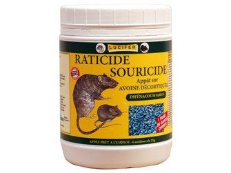 Souricide raticide à base d´avoine décortiquée par 0,140 kg