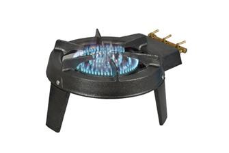 Réchaud à gaz 7 100 W avec 3 robinets et 3 pieds